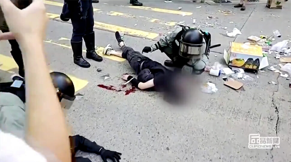 WATCH: Hong Kong police shoot protester days after student dies