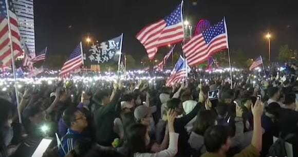 WATCH: Hong Kong sings US anthem after Trump signs Act in solidarity
