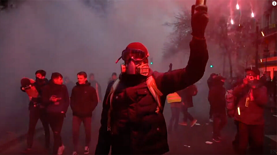 WATCH: Riots rock France as Macron pushes for pension reform