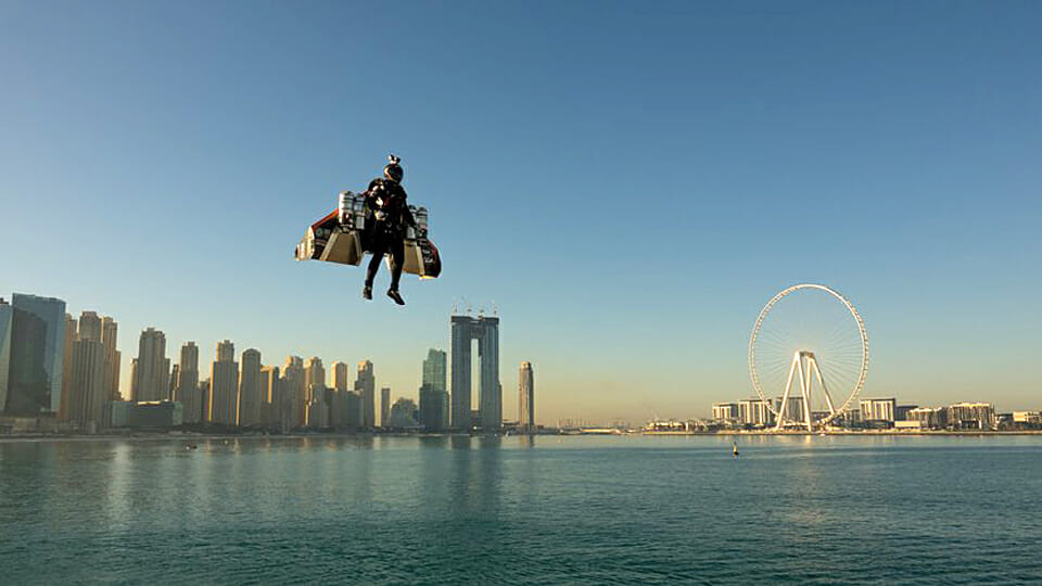 WATCH: The future of travel? First ever jetpack flight with vertical takeoff