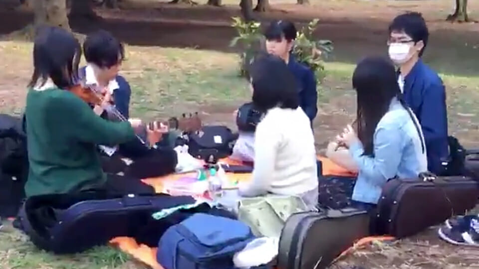 WATCH: Amazing trad session breaks out in Tokyo