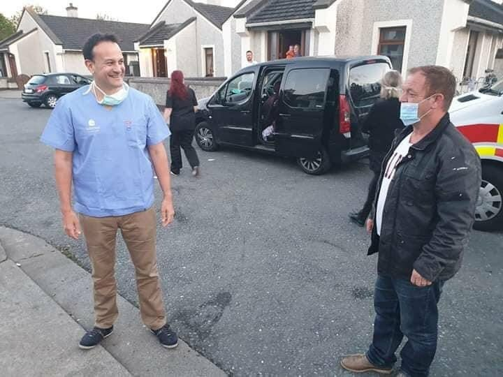 "Varadkar criticised for alleged ""photo op"" in scrubs"