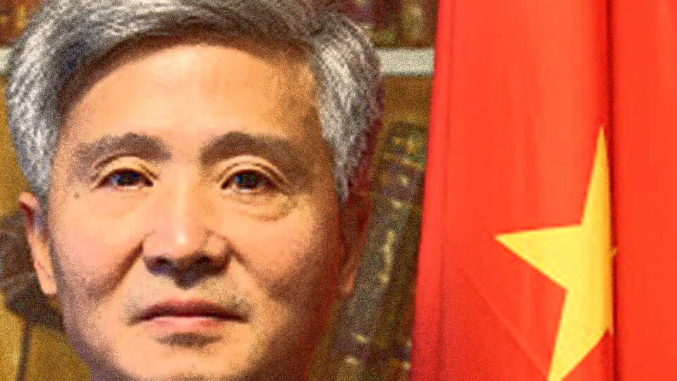 The Brass Neck award goes to…the Chinese Ambassador to Ireland