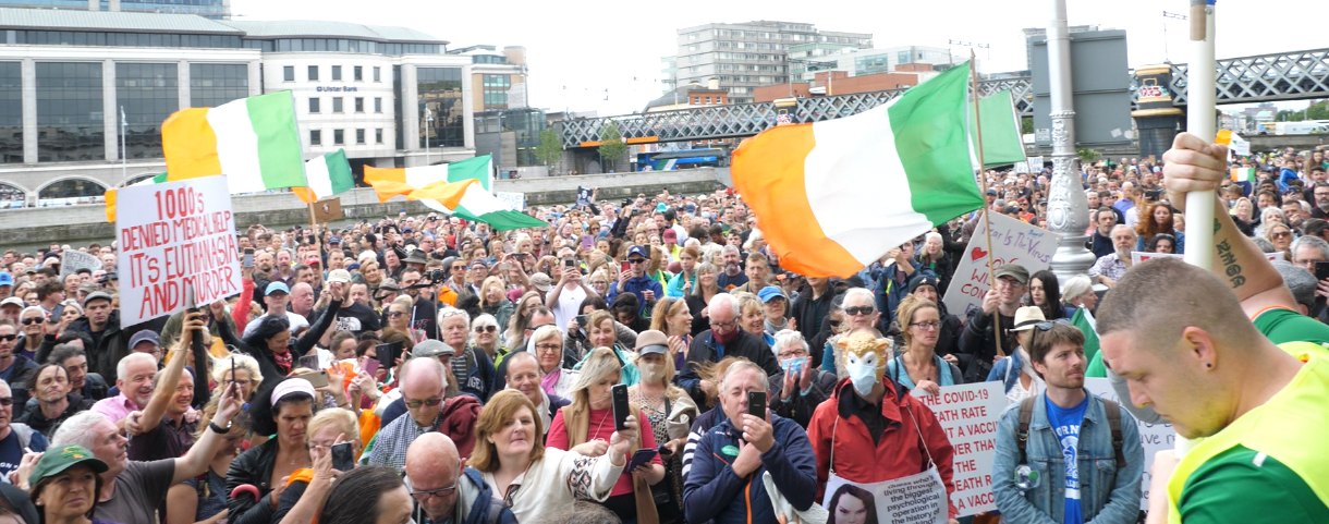 Thousands attend Dublin rally calling for health freedom, end to lockdown