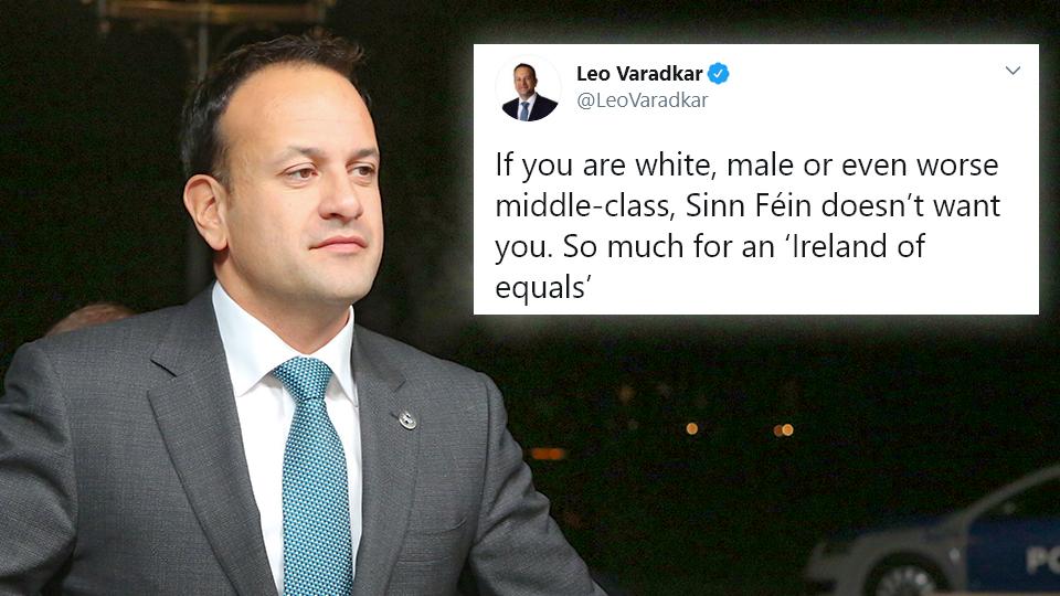 BEN SCALLAN: Leo back-tracks on identity politics – but only to bash Sinn Féin