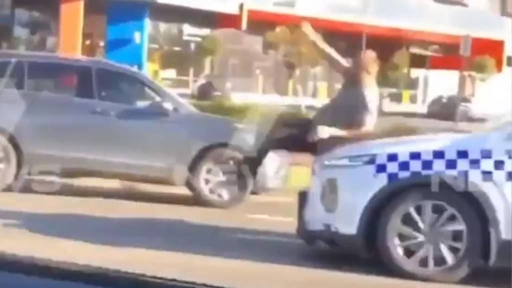 WATCH: Australian police car rams mentally ill man, officer kicks him in head