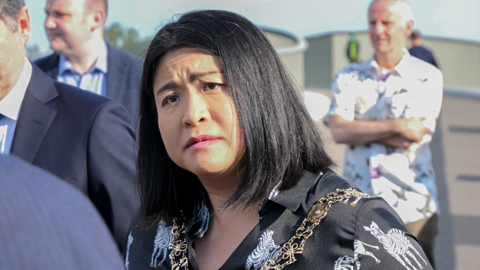 Bad news: Hazel Chu broke the law at her election launch