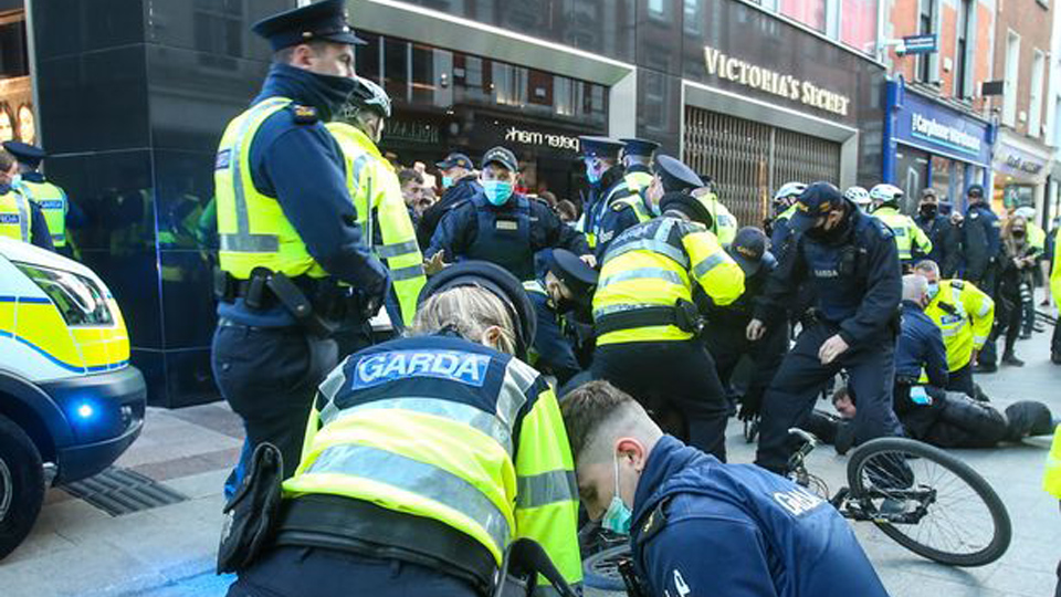 The use of Garda batons against lockdown protestors sets a dangerous precedent