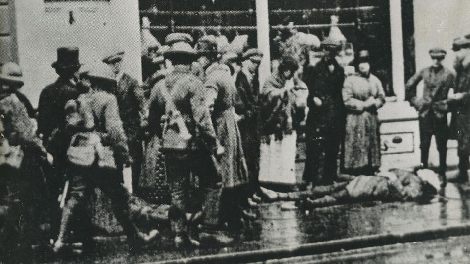 Seán Treacy was shot dead on Talbot Street 100 years ago – WATCH new footage