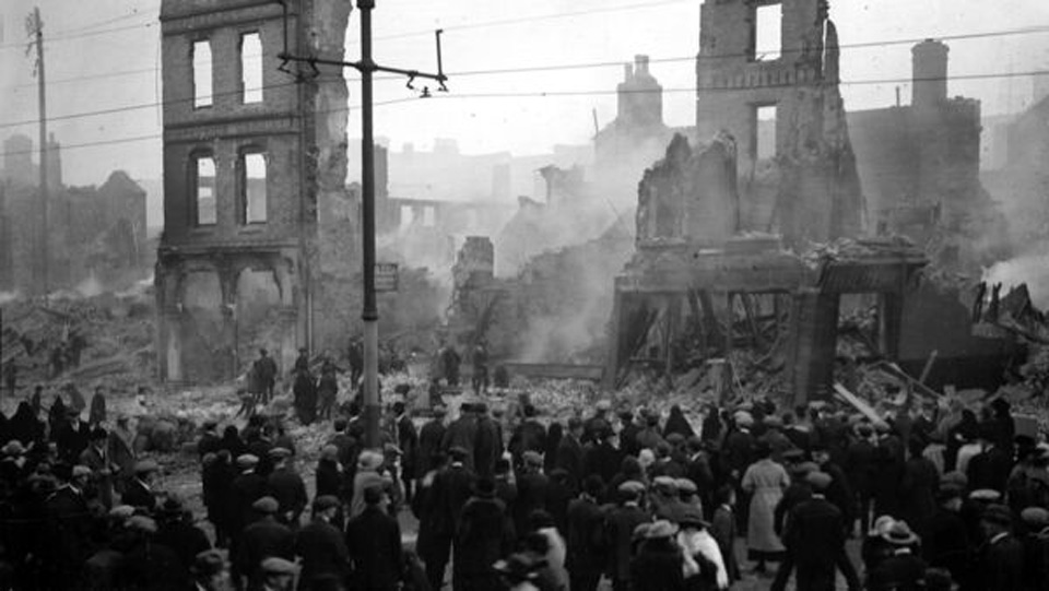 100 years ago: The Burning of Cork by the Tans made world news