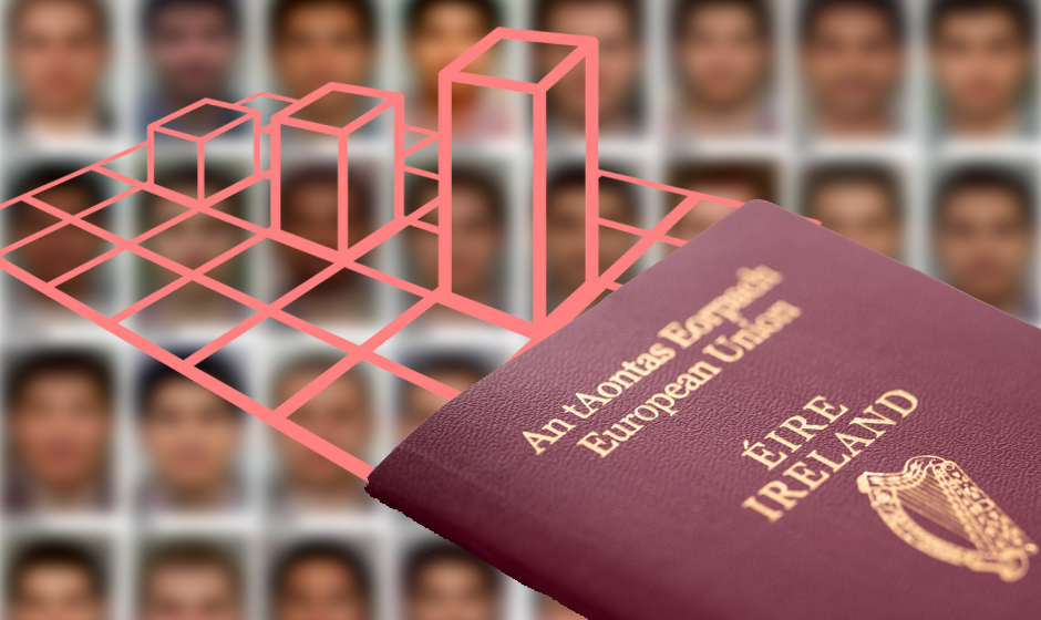 What does the actual data tell us about who is seeking asylum in Ireland?