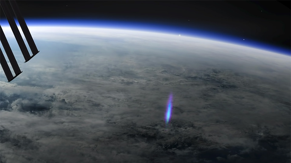 WATCH: 'Blue Jet' lightning seen shooting into space