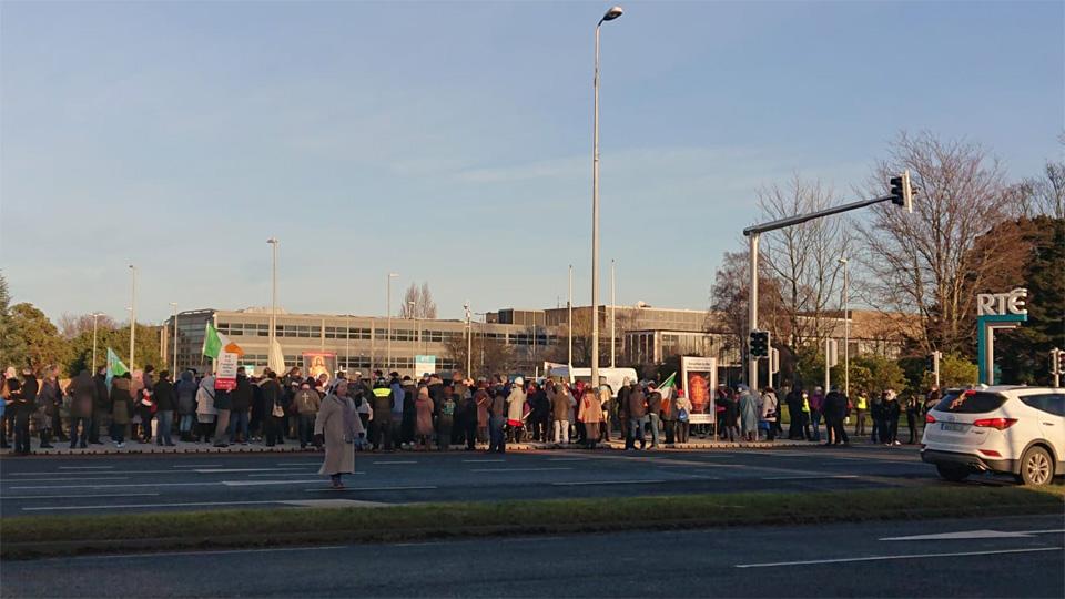 200 at Vigil to protest RTÉ God rape 'joke'