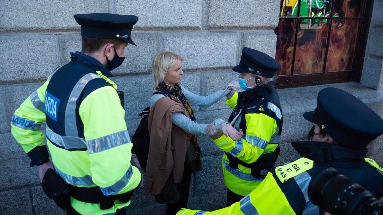 """I was just Standing Here"" : Arrests as Gardai Enforce Lockdown"
