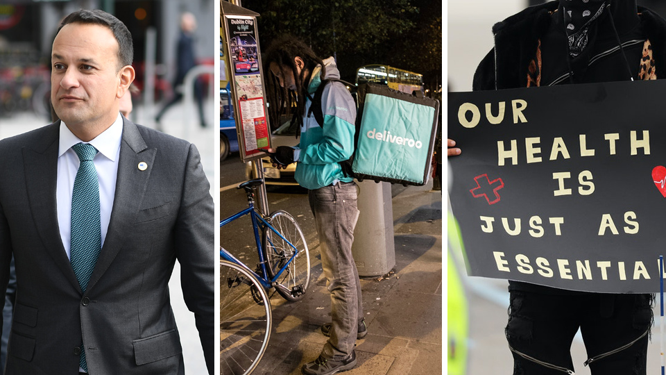 "Foreign work permits still being issued as Leo says Deliveroo is ""essential"""