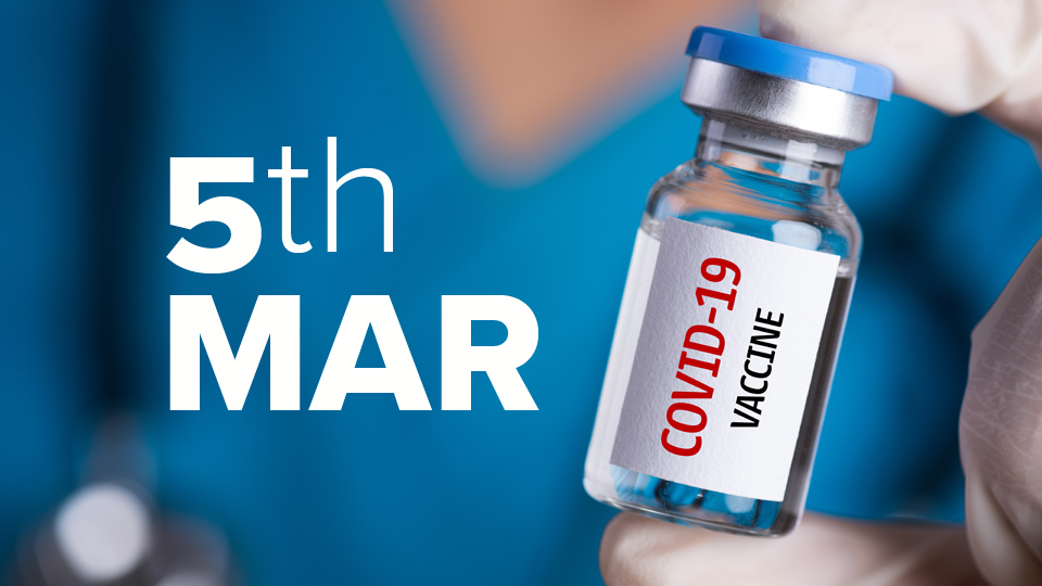 Vaccine Update: At current trends we will miss March's vaccination target by over 350,000 doses.