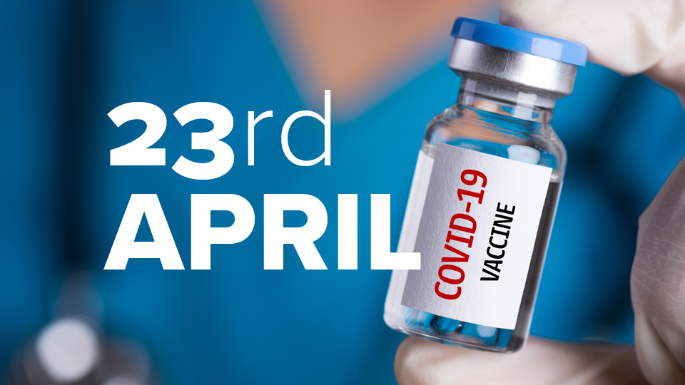 Vaccine Update: 21 days late – we've hit our March vaccination target