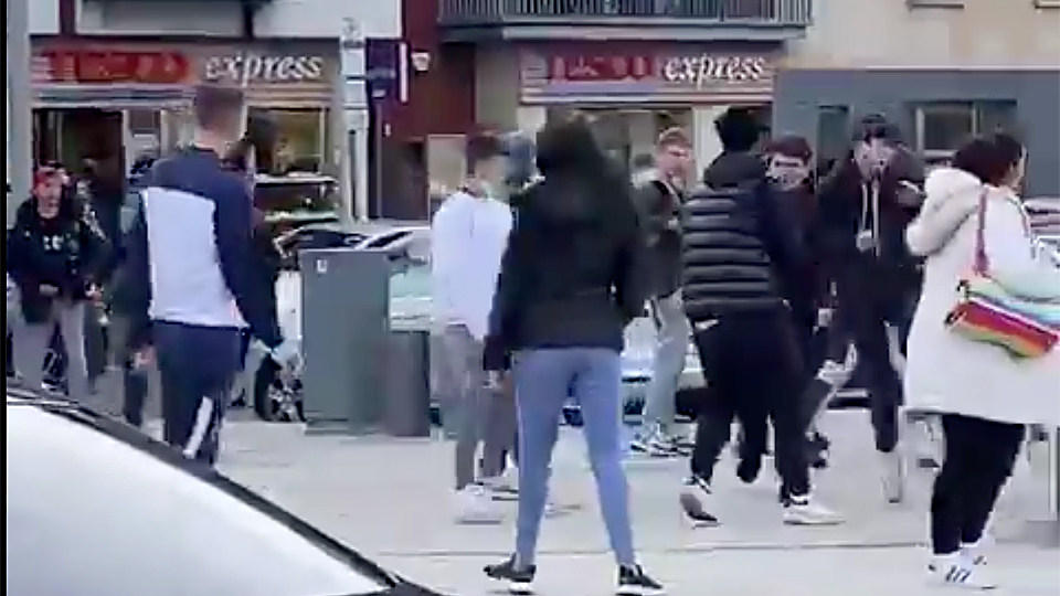 WATCH: Anger as 'feral' gangs trip woman under train, brawl in Malahide