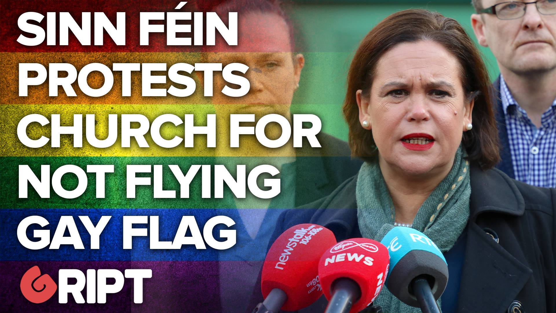Sinn Féin protests outside Catholic Church for not flying gay pride flag